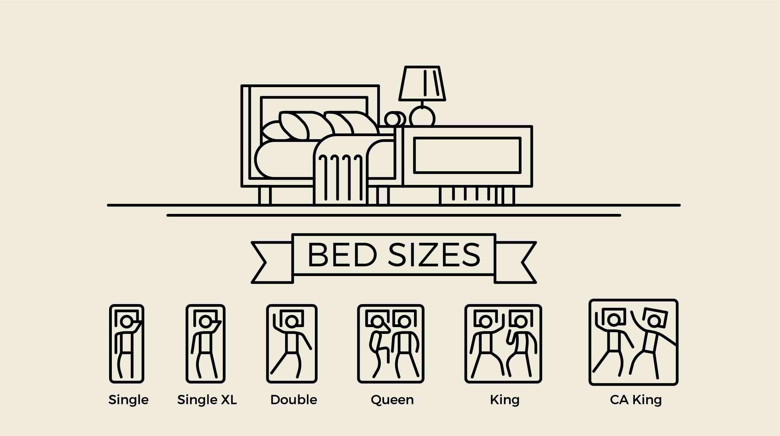 medidas estándar de camas