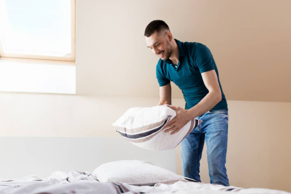 como limpiar una almohada de latex